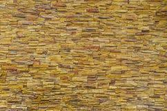 Штабелированная стена шифера каменная Стоковое Изображение