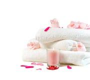 Спа с розовыми цветками Стоковое Изображение