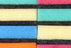 Штабелированные губки кухни Стоковые Изображения RF