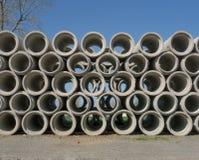 Штабелированные конкретные трубы Стоковое Изображение RF