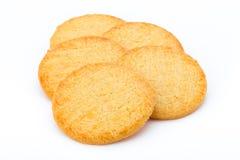 Штабелированные печенья короткого печенья изолированные на белой предпосылке Стоковые Фотографии RF