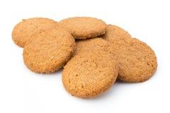Штабелированные печенья короткого печенья на белой предпосылке Стоковая Фотография
