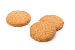 Штабелированные печенья короткого печенья на белой предпосылке Стоковая Фотография RF