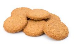 Штабелированные печенья короткого печенья на белой предпосылке Стоковое Фото