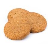 Штабелированные печенья короткого печенья на белой предпосылке Стоковое Изображение RF