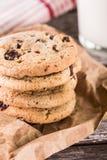 Штабелированные печенья обломока шоколада Стоковое Изображение