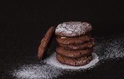 штабелированные печенья шоколада обломока Стоковая Фотография