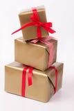 Штабелированные подарочные коробки Стоковые Изображения RF