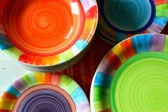Штабелированные плиты, взгляд высоко-угла Стоковое Изображение