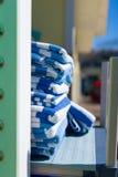 Штабелированные пляжные полотенца Стоковое фото RF