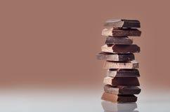 Штабелированные части шоколада Стоковое фото RF