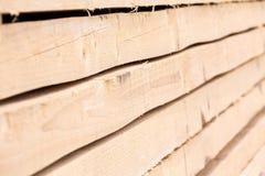 Штабелированный крупный план деревянных доск Стоковая Фотография