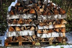 Штабелированный для древесины засыхания Стоковое Изображение RF