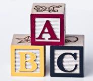 Штабелированный ABC Стоковое фото RF