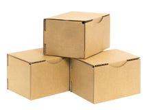 3 штабелированных коробки Стоковые Изображения