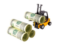 Штабелировать денег Стоковые Фотографии RF