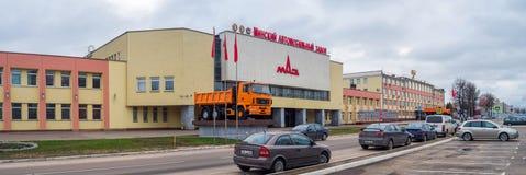 Штабы завода MAZ автомобиля в Беларуси Стоковое фото RF