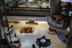 Штабы мира General Motors в городском Детройте Мичигане стоковая фотография rf