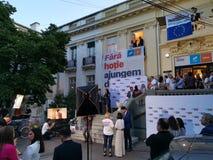 Штабы союзничества 2020 USR-PLUS в Бухаресте стоковое фото rf