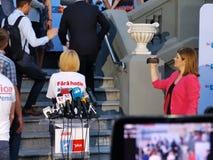 Штабы союзничества 2020 USR-PLUS в Бухаресте стоковая фотография rf