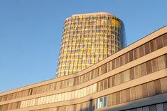 Штабы ADAC новые в Мюнхене стоковые фотографии rf