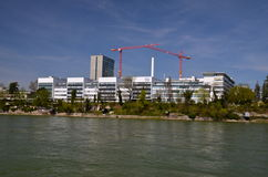 Штабы Hoffmann La Roche в Базеле, Швейцарии Стоковое Изображение