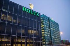 Штабы Rolex в Женеве, Швейцарии стоковое фото rf