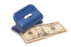 Штамповщик и 10 долларов Стоковые Фото