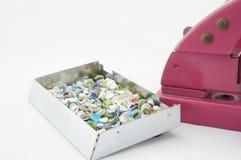 Штамповщик и confetti Стоковое фото RF