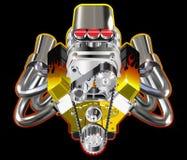 штанга двигателя горячая Стоковое фото RF