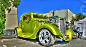 Штанга винтажного зеленого цвета 1930s горячая Стоковые Изображения RF