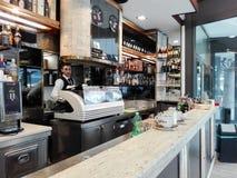 Штанга кофе в Рим Стоковая Фотография