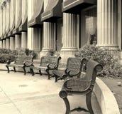 штанга утюга benchs Стоковое фото RF