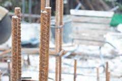 Штанга учреждения стальная для жилищного строительства стоковое фото rf