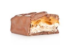 Штанга шоколада с карамелькой стоковое фото