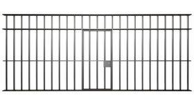 Штанги клетки тюрьмы Стоковое Изображение RF