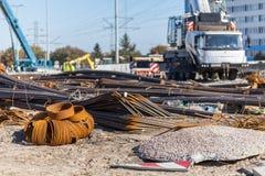 Штанги на строительной площадке Стоковое фото RF