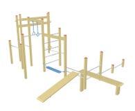 Штанги Sit-up и pull-up, иллюстрация 3D Стоковое Изображение