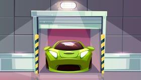 Штарки ролика места для стоянки вектора гаража автомобиля бесплатная иллюстрация