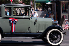 Штат Вашингтон, США, август 2011: Винтажный автомобиль в ежегодном параде фестиваля чечевицы Стоковая Фотография RF