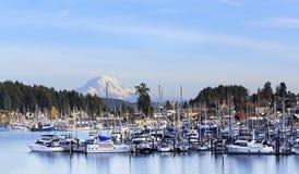 Штат Вашингтон Mt гавани двуколки ненастно стоковые фотографии rf