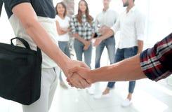 Штат рукопожатия агенства стоковое изображение