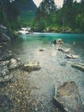 Штейновый ландшафт пейзажа реки Стоковое фото RF