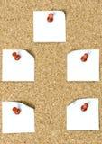 Штеккерная панель с бумагами Стоковое Фото