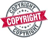 Штемпель авторского права иллюстрация штока
