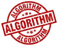 Штемпель алгоритма иллюстрация вектора