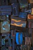 Штемпель алфавита, печатные буквы Стоковая Фотография