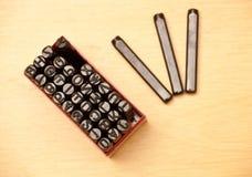 штемпель алфавита установленный Стоковое фото RF