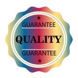 Штемпель гарантии качественный красочный Знак уплотнение Стоковое фото RF