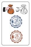 штемпель дег руки первоначально Стоковая Фотография